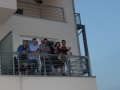 Stanovalci na balkonu